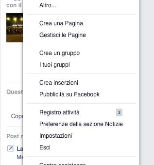 Preferenze della sezione notizie facebook