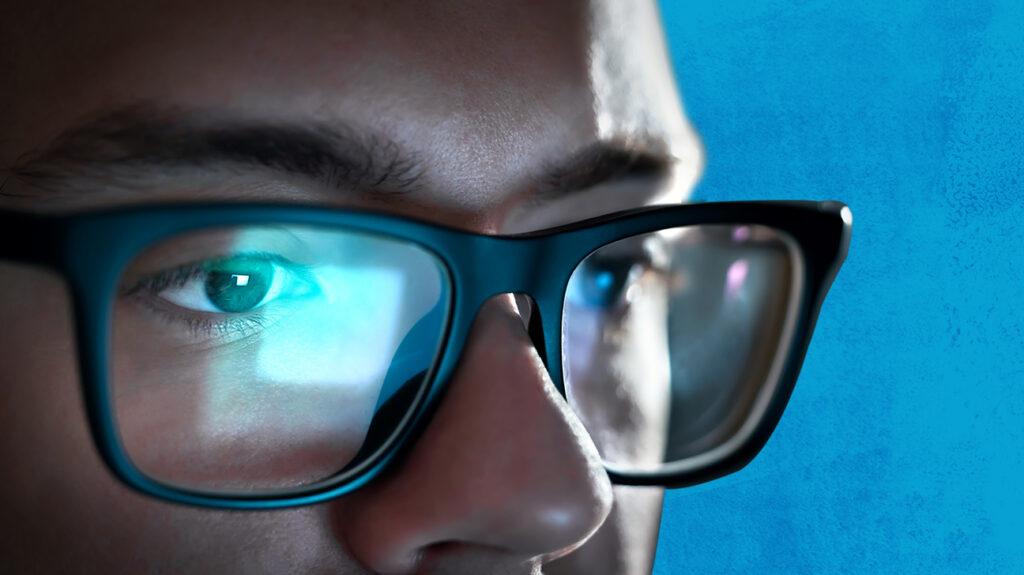 occhiali filtro luce blu